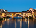 Ponte vecchio in florence italy at night Stock Photography