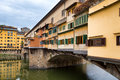 Ponte vecchio in florence italy side view of Royalty Free Stock Photography