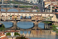 Ponte vecchio florence tuscany italy view from the michelangelo s piazza Royalty Free Stock Photos