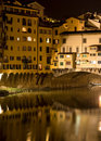 The Ponte Vecchio by night Stock Photos