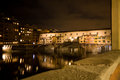 Ponte vecchio at night florence the old bridge over the arno italy Stock Photo