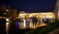 Ponte Vecchio night view over Arno  river in Florence Royalty Free Stock Photo