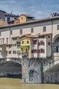 The Ponte Vecchio (Old Bridge) in Florence, Italy. Stock Photos