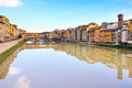 Ponte Vecchio, old bridge in Florence. Italy Royalty Free Stock Image