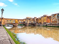 Ponte Vecchio, old bridge, Florence, Italy Stock Image
