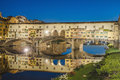 The Ponte Vecchio (Old Bridge) in Florence, Italy. Royalty Free Stock Photo