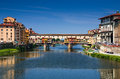 Ponte Vecchio over Arno river, Florence, Tuscany in Italy Royalty Free Stock Photo