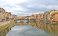 Ponte vecchio on the river arno florence italy Royalty Free Stock Images