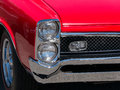 Pontiac gto classic front end red Royalty Free Stock Photo
