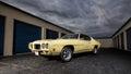 Pontiac gto judge with a dark sky Stock Image
