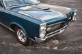 Pontiac gto a turquoise Royalty Free Stock Photography
