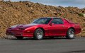 Pontiac trans am image of a at a drag racing event in iceland Stock Image