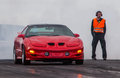 Pontiac trans am ws photo from a drag racing in iceland of a burnout Stock Images