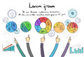 Ponto de infographics logo business people hand draw Imagem de Stock Royalty Free