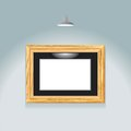 Ponto dourado do frame Foto de Stock Royalty Free