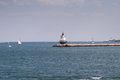 Ponto Ledge Lighthouse da mola Foto de Stock Royalty Free