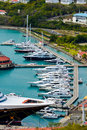 Pontoon berthing with yachts Royalty Free Stock Photo