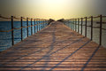 Pontoon in sharm on the red sea wooden stretching into el sheikh Royalty Free Stock Image