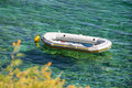 Pontoon transparent water white on crystal clear turquoise adriatic sea croatia island krk stara baska stone beach Stock Photo