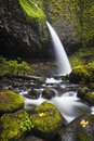 Ponytail falls autumn columbia gorge oregon in in the of Royalty Free Stock Photo