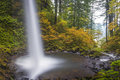 Ponytail falls autumn columbia gorge oregon in in the of Stock Image