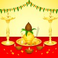 Pooja kalash easy to edit vector illustration of Royalty Free Stock Image