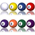 Pool balls set Stock Photos