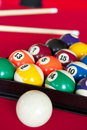 Pool billiards Stock Photos