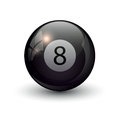 Pool billiards eight ball