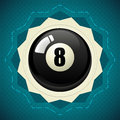 Pool Black Ball number eight Royalty Free Stock Photo