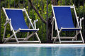 Pool chairs Royalty Free Stock Photo