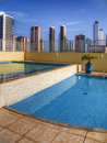 Pool in condominium Stock Images