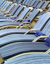 Pool deck chairs on a cruise ship Stock Image