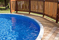 Pool Deck and Railing Royalty Free Stock Photography