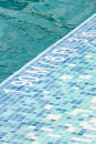 Pool depth indicator blue swimming and Stock Image