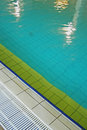 Pool detail of the indoor swimming Royalty Free Stock Photo