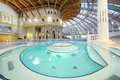 Pool and dome in waterpark caribia moscow june on june moscow russia perovo was opened Royalty Free Stock Images