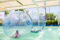 Pool floating ball for children swimming Stock Photo