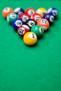 Pool game balls Stock Images