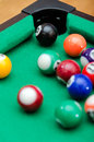 Pool game balls Stock Photos
