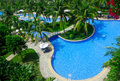 Pool of Golden Palm Resort Royalty Free Stock Photo