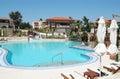 Pool in Greek hotel. Royalty Free Stock Photo