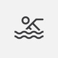 Pool icon, vector logo illustration, pictogram isolated on white.