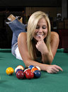 Pool Lady Stock Photography