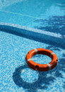 Pool and life saver Royalty Free Stock Photos