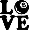 Pool Love Eight Ball