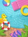 Pool Party Art Summer Vector Image Fun