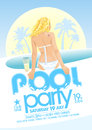 Pool party design. Royalty Free Stock Photo