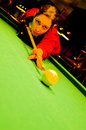 Pool player Stock Photography
