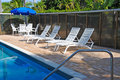 Pool Side Area Royalty Free Stock Photo